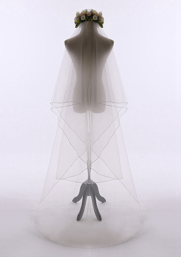 Two-tier Tulle Chapel Bridal Veils