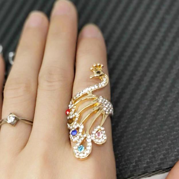 Women's Beautiful Silver Rings With Rhinestone
