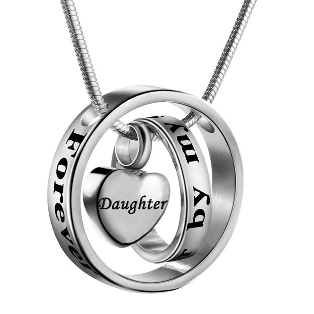Personalized Customized No Longer By My Side,Forever In My Heart Engraved Name Necklaces