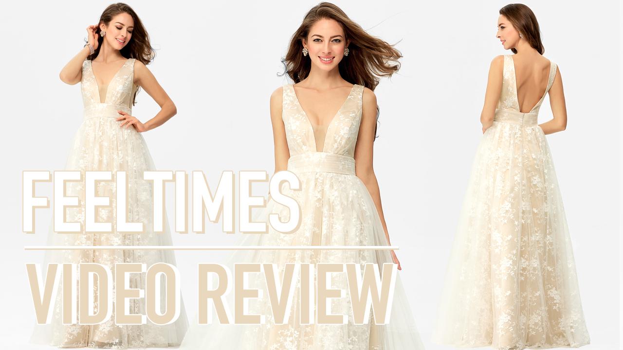 Prom Dress M19271P丨A-line/Princess Sleeveless Long/Floor-Length Lace Prom Dress - FeelTimes